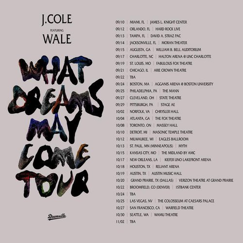 J Cole Tour Dates And Locations