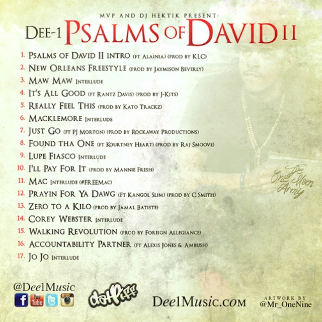 Dee 1 Psalms Of David Ii Cover Art Tracklisting Download
