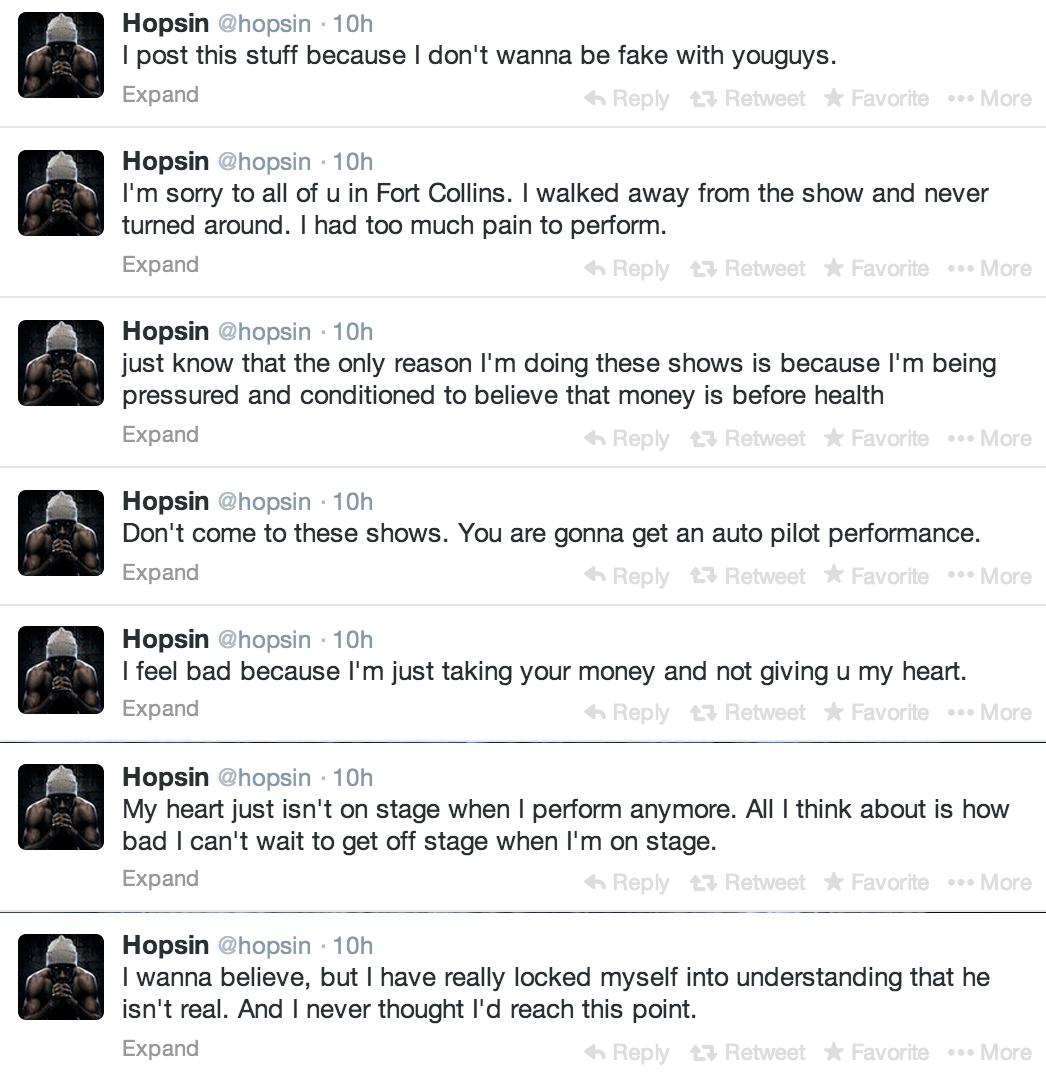 Hopsin Blasts Fame,