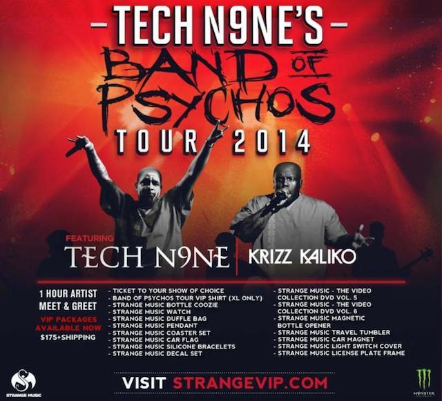 """""""Tech N9ne's Band Of Psychos Tour 2014"""" Announcement"""