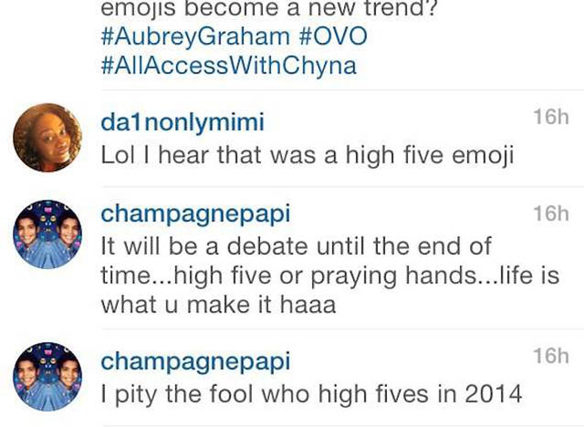 instagram flexin drake s emoji tattoo high five or praying hands hiphopdx instagram flexin drake s emoji tattoo